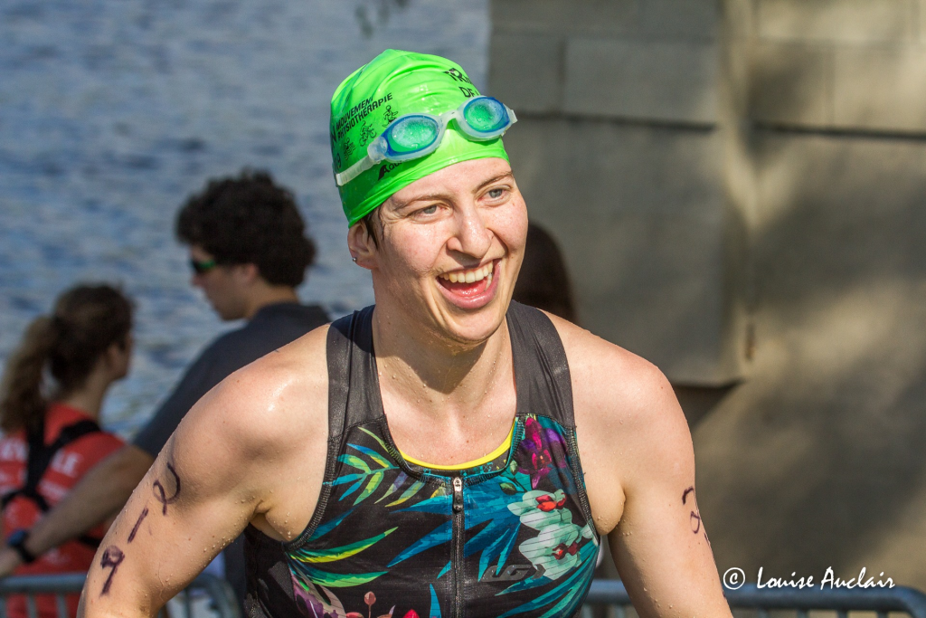 Julie au Triathlon de Laval